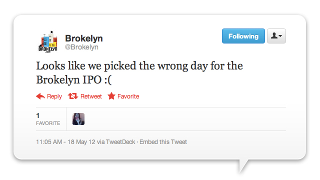 Click here to read The 11 Funniest Tweets About Facebook IPOpocalypse