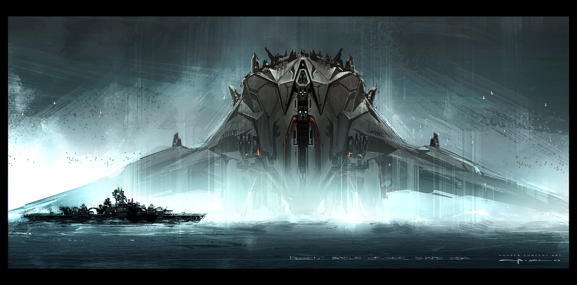 The Raw Beauty of Battleship's Alien Concept Art [Concept ...