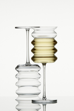 Drinking from this Stemware, You'll Be Less Apt to Spill