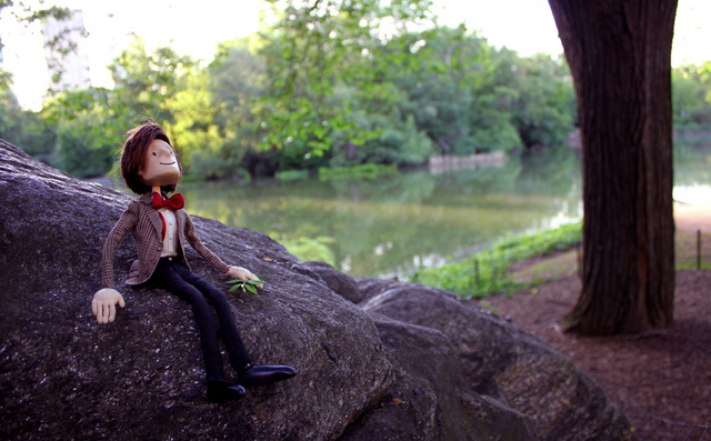 The Eleventh Doctor has turned into a puppet, but he doesn't seem to mind