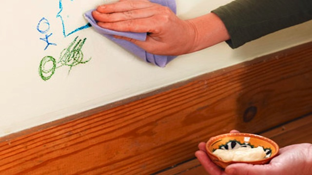 "Use Mayonnaise to Clean Crayon ""Art"" From Your Walls"