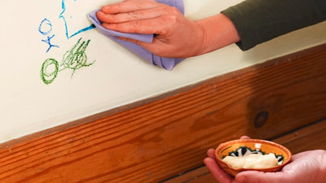 "original Use Mayonnaise to Clean Crayon ""Art"" From Your Walls"