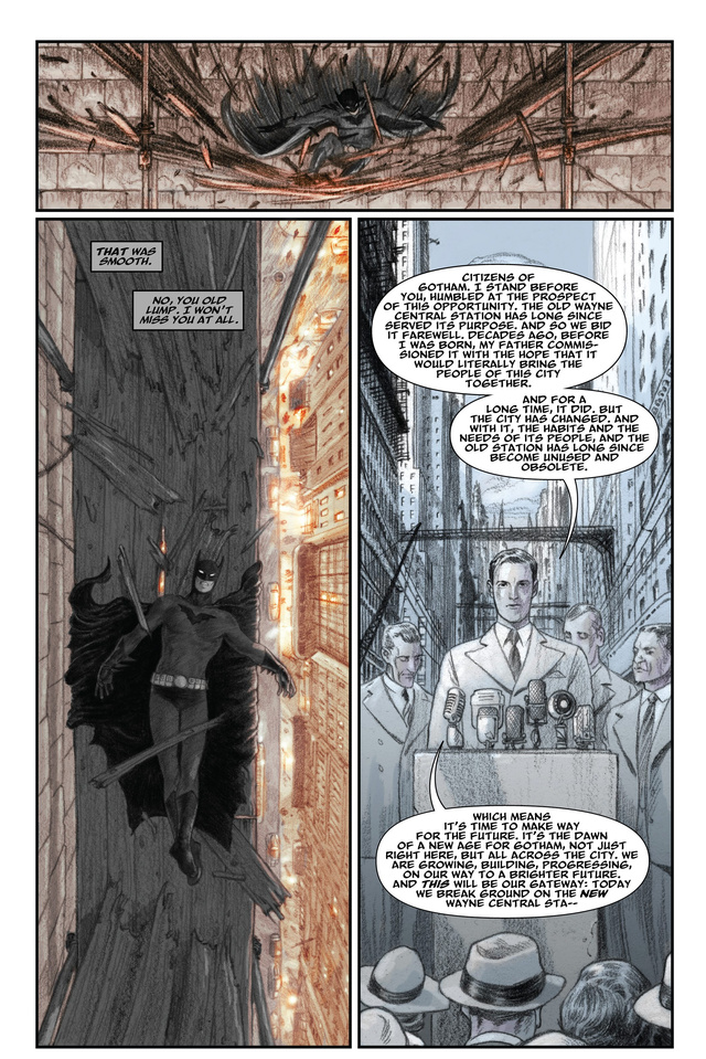 A sneak peek of the new architecture-obsessed Batman graphic novel