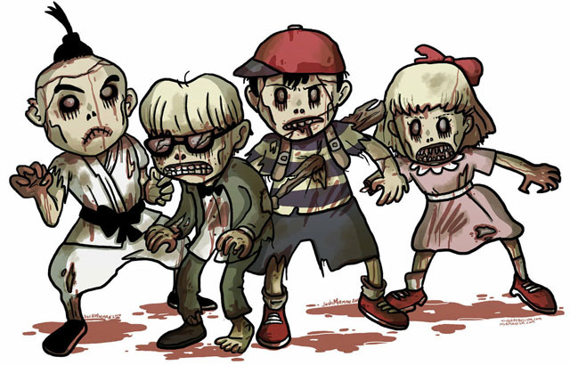 Your Favorite Video Game Characters, Only Now They're Undead