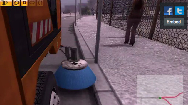 You Can Drive A Street Sweeper In This Game