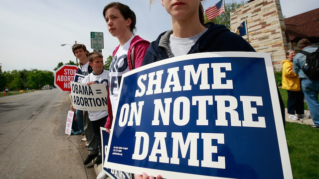 University of Notre Dame is Fightin' Contraception Access in Giant Anti-Birth Control Lawsuit