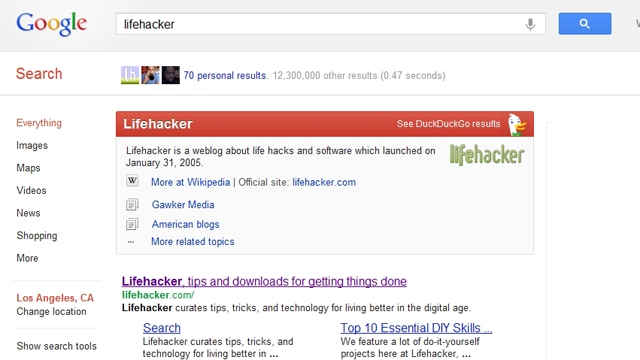 "Click here to read Add DuckDuckGo's Smart ""Zero-Click Info"" Results to Google Searches in Chrome"