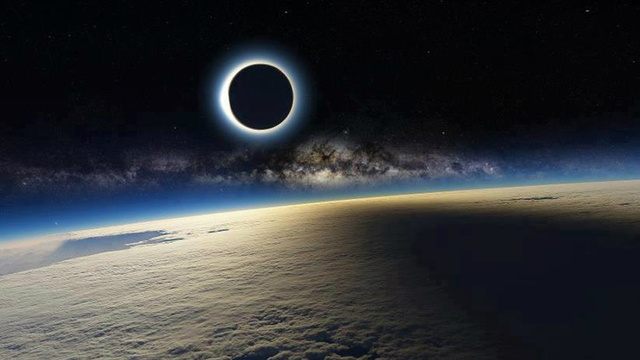 This Mind Blowing Image of the Eclipse Taken From Space Can't Possibly Be Real