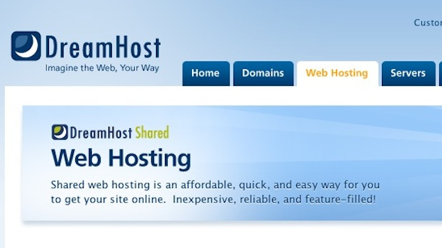 Most Popular Web Hosting Company: Dreamhost