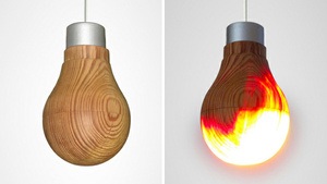 How in the World Does This Wooden Lightbulb Work?