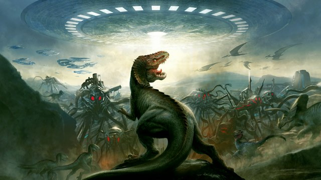 Don't worry: Grant Morrison's Dinosaurs vs. Aliens won't be a silent movie