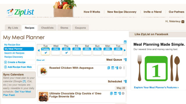 ZipList Is an All-in-One Meal Planner, Recipe Box, and Shopping List App