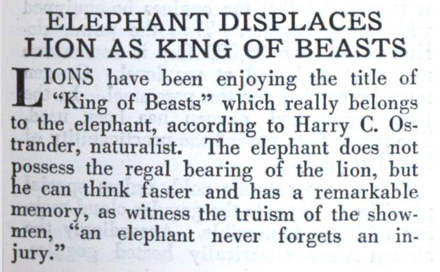 In 1929, the most important article in the history of zoology was published