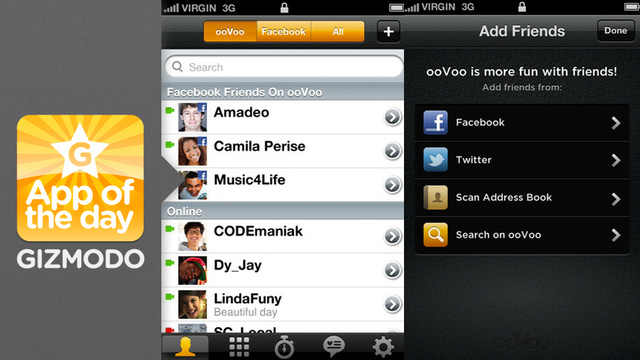ooVoo: Video Chat With A Dozen Friends at a Time