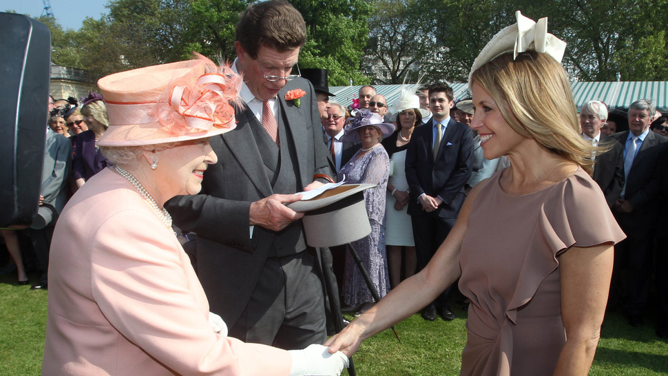 Katie Couric Dons Her Best Hat for the Queen