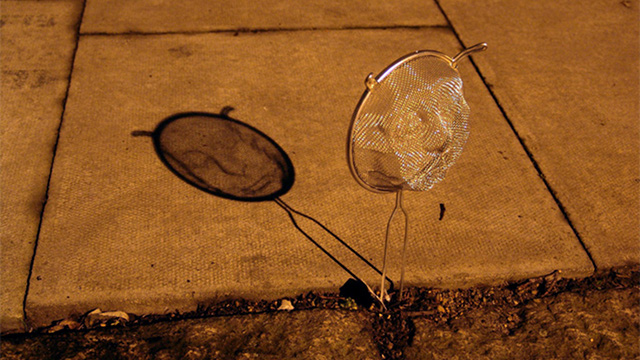 Sculpted Metal Strainers Create Beautiful Portraits With Shadow And Light