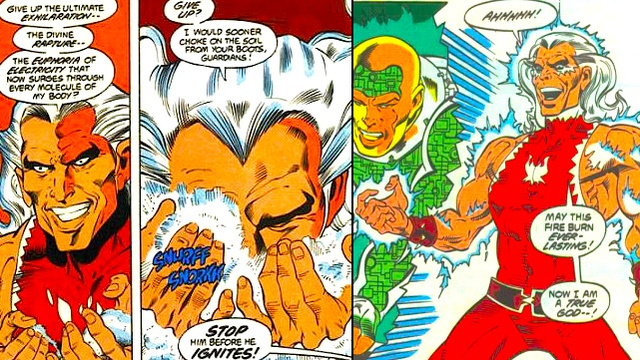 A webcomic about Snowflame, a real DC Comics supervillain who gained his powers from cocaine