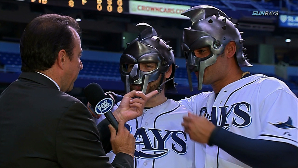 The Rays' Luke Scott And Carlos Peña Ask: Are You Not Entertained?