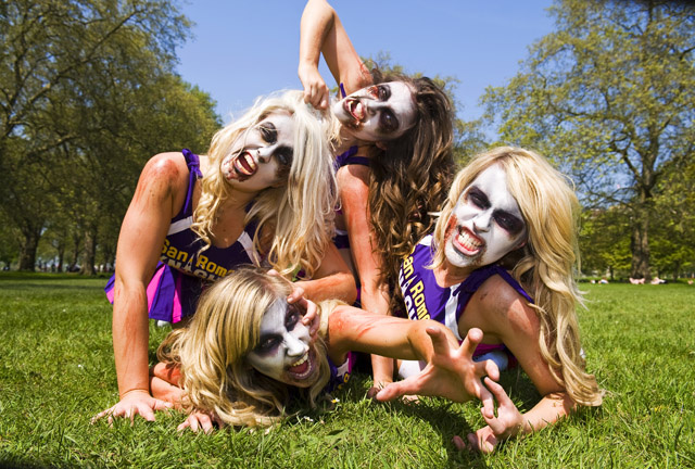 Lollipop Chainsaw Deploys Writhing Zombie Cheerleader Squad to England