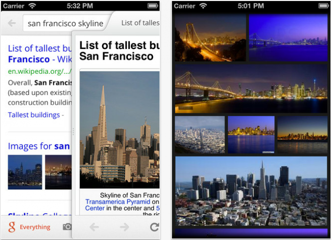 Google Search iPhone App Redesigned For Speed And Beauty