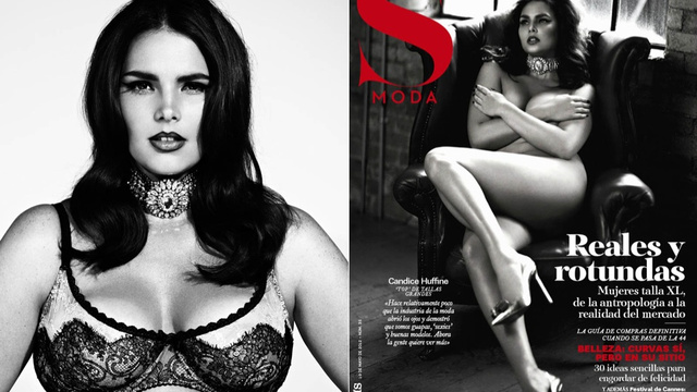 Plus-Size Model Candice Huffine Is Naked On Another Magazine Cover