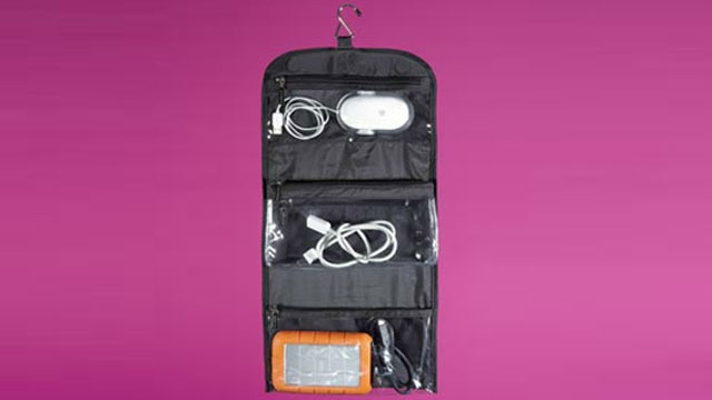 Click here to read Keep Cords and Gadgets Organized in a Hanging Toiletries Bag