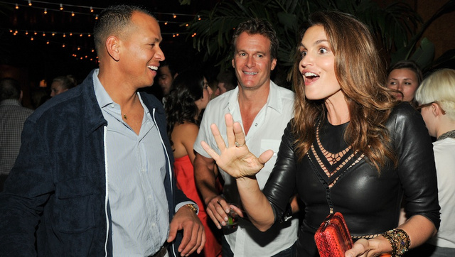 Here Is A Photo Of A-Rod, Cindy Crawford, And Cindy Crawford's Husband Looking Strange Together