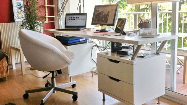 DIY IKEA Franken Desk Storage And Space In A Sharp