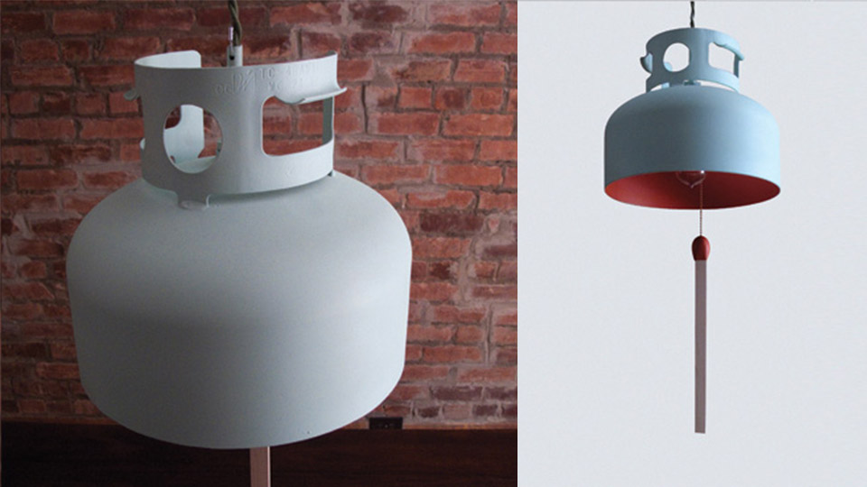 Recycled Gas Tank Becomes A Lamp