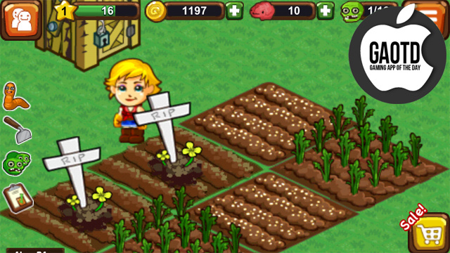 Plant Fruits, Vegetables, and Rows of the Undead on Your Zombie Farm