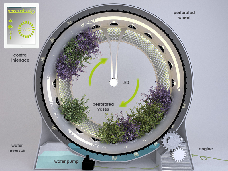 This Spinning Indoor Garden Was Built Using NASA Technology