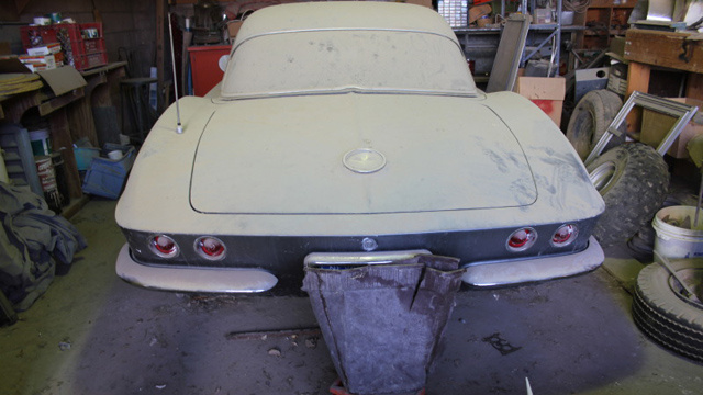 Barn Find 1961 Corvette Still In As Found Condition Is Quite A Sight