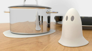 A Clever Pot Holder That Disappears Before Your Eyes
