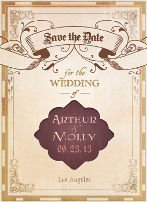 Geeky Save-the-Date cards for couples joining their lives in fandom