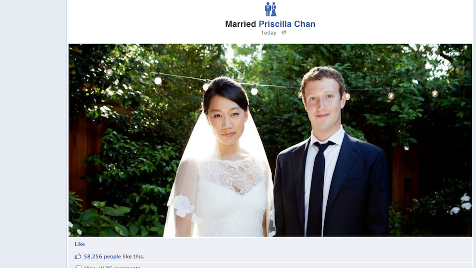 zuck's facebook wedding cost $7 million [facebook