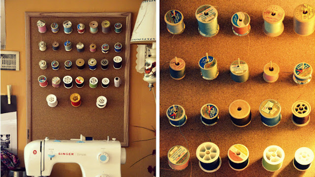 Repurpose a Cork Bulletin Board Into a Thread Organizer