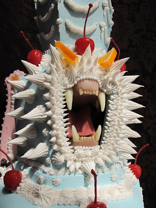 If H.R. Giger were a pastry chef, his cakes might look something like this