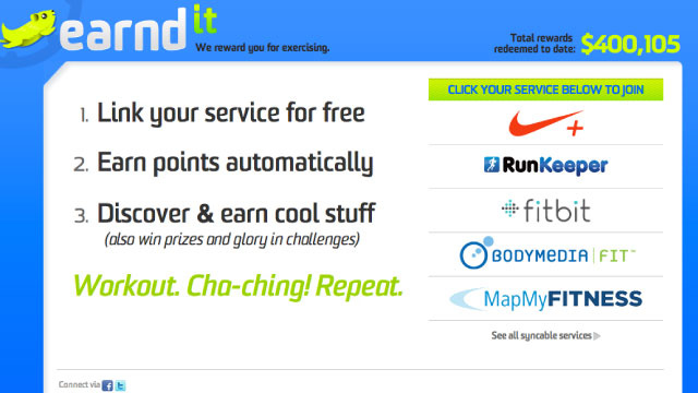 Earndit Rewards You for Exercising with Gift Cards and Other Real Rewards