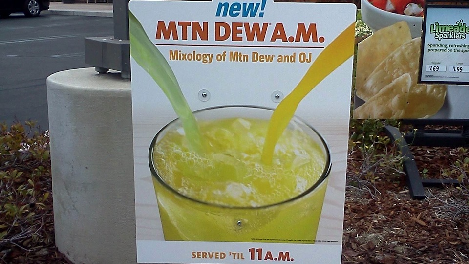 In America, Taco Bell Now Sells Orange Juice Mixed With Mountain Dew