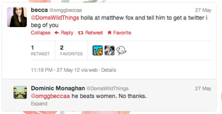 In Which Dominic Monaghan Flat-Out Accuses Matthew Fox of Being a Habitual Woman Beater