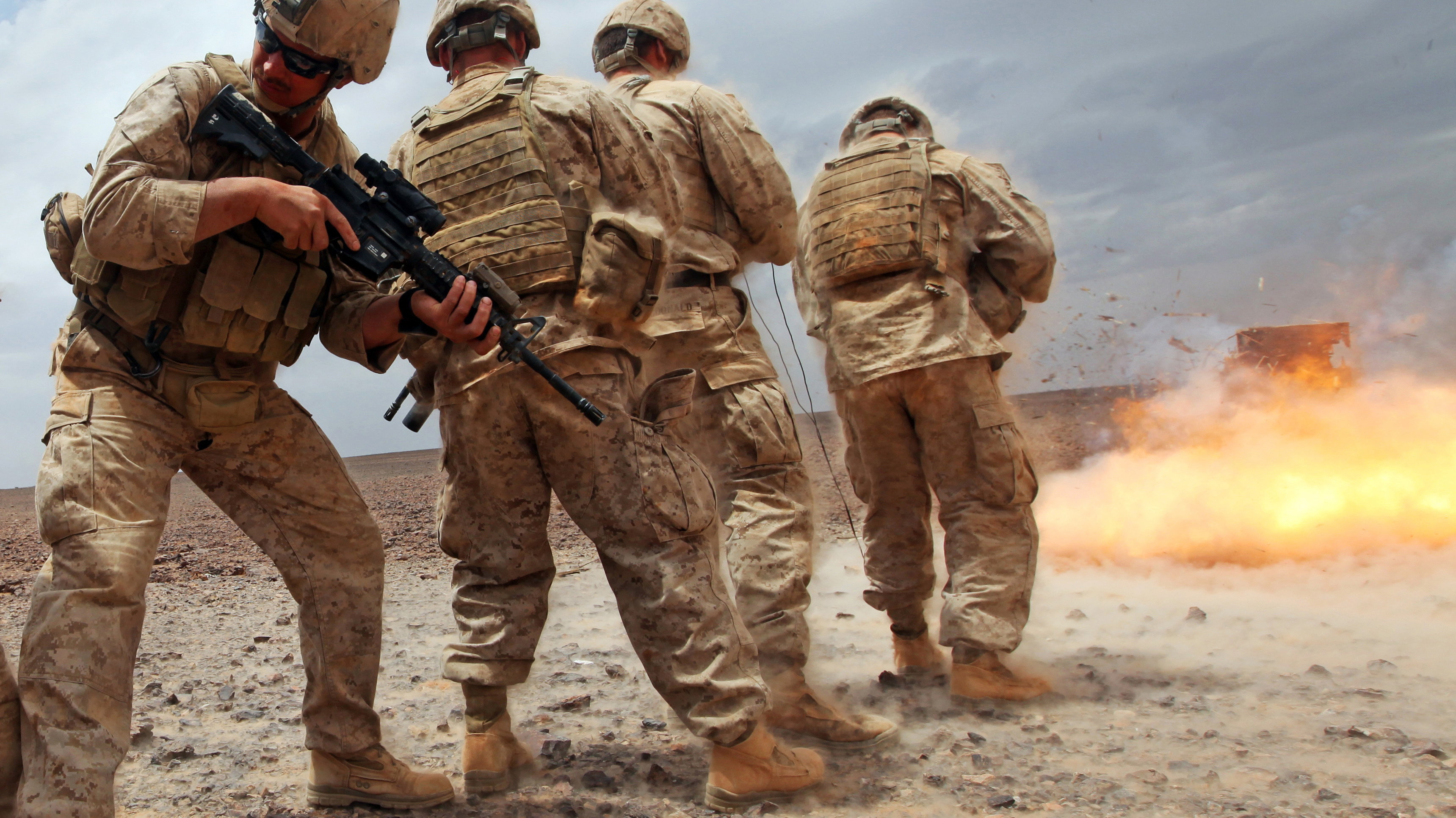 This Explosion Was So Damn Close That The Shockwave Dusted Off Some Marines