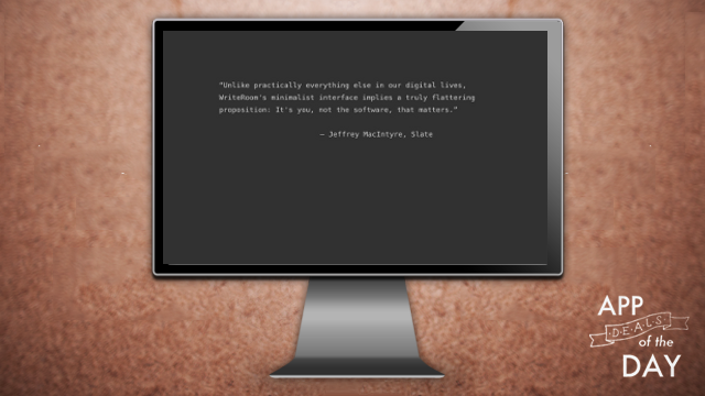Daily App Deals: Get WriteRoom for Mac for $1.99 in Today's App Deals