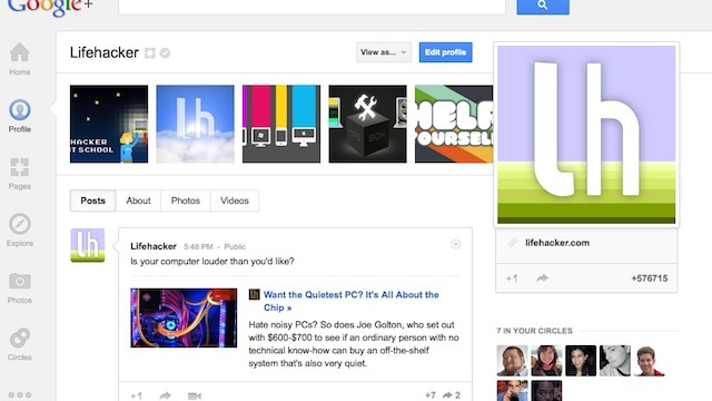 Add Lifehacker and Our Writers to Your Circles at Google+, Prove It's No Ghost Town