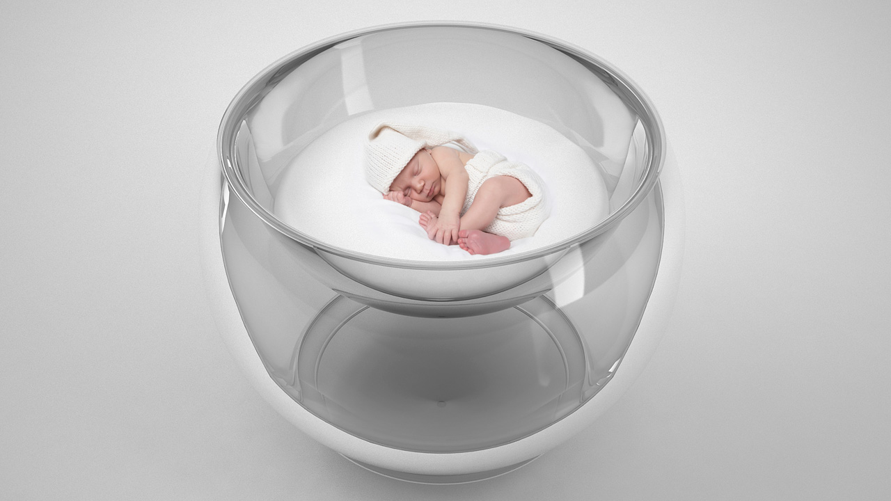 Click here to read Transparent Bubble Crib Makes Your Bundle of Joy Look Like a Science Experiment