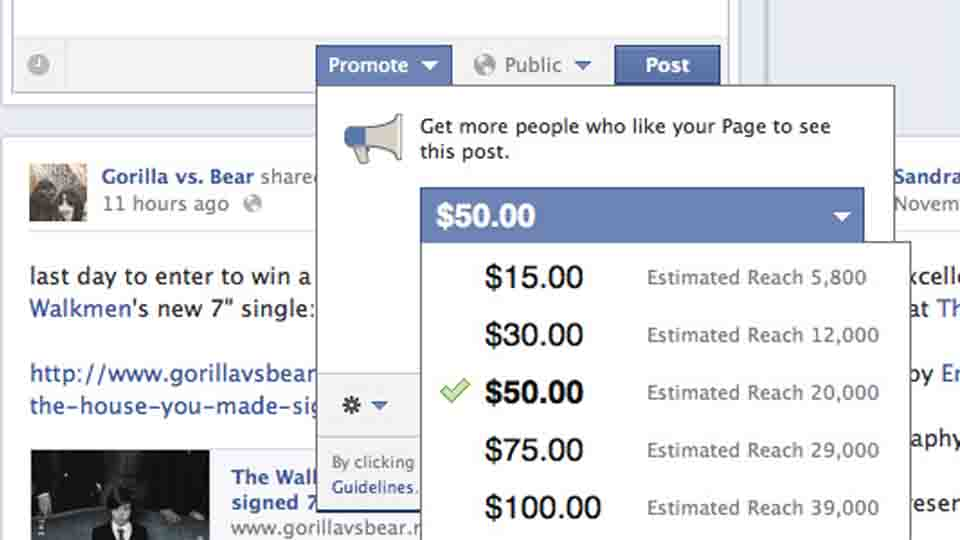 Facebook's Pay-To-Promote Posts Feature Has Arrived