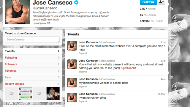 Join Jose Canseco's Website, Watch Him Do Steroids