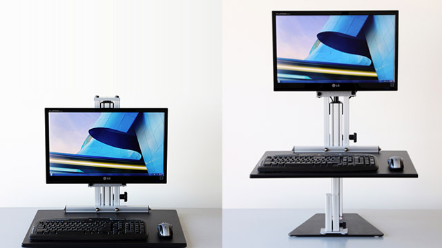 Click here to read Transform Any Desk into an Affordable, Flexible Standing Desk