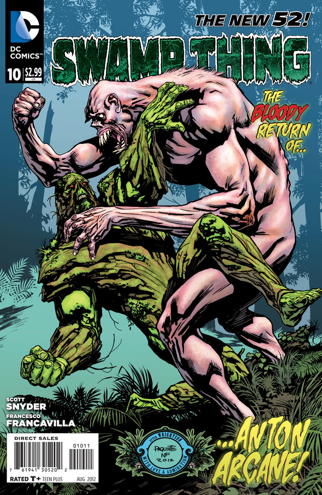 Read a sneak preview of the next issue of Swamp Thing