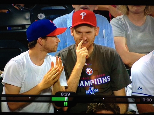 Phillies Fan Goes Knuckle-Deep