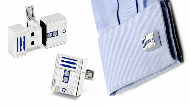 R2-D2 Flash Drive Cufflinks Are Obviously the Best Cufflinks In the Galaxy